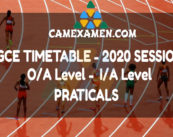 GCE TIMETABLE 2020 SESSION